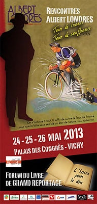 Affiche, brochure, flyer, carton invitation (Les Rencontres Albert Londres 2013)